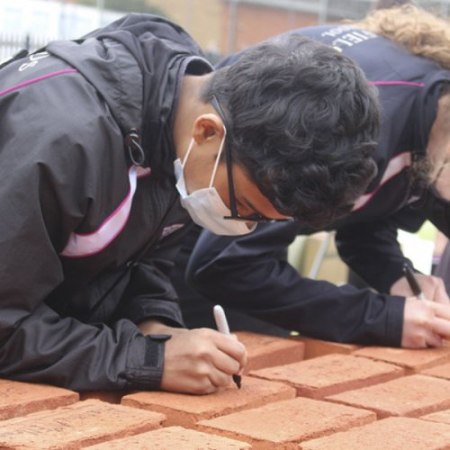 Seniors Sign Bricks